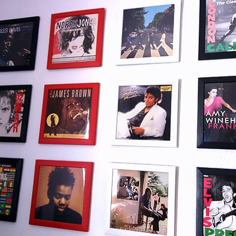 Encadrer des vinyles