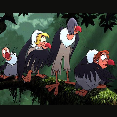 Les vautours du Livre de la Jungle