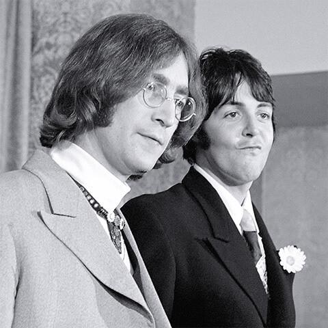 John Lennon et Paul McCartney